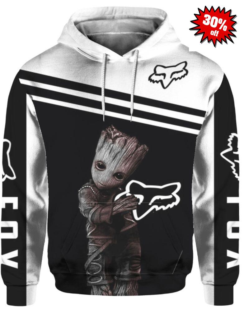 Groot fox racing 3d cool hoodie