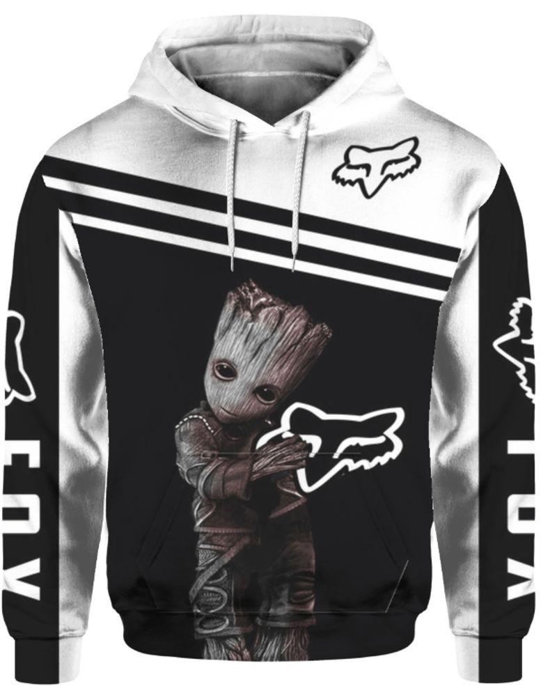 Groot fox racing 3d hot hoodie