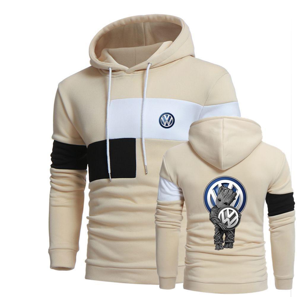 Groot hug Volkswagen full over 3d print creme hoodie