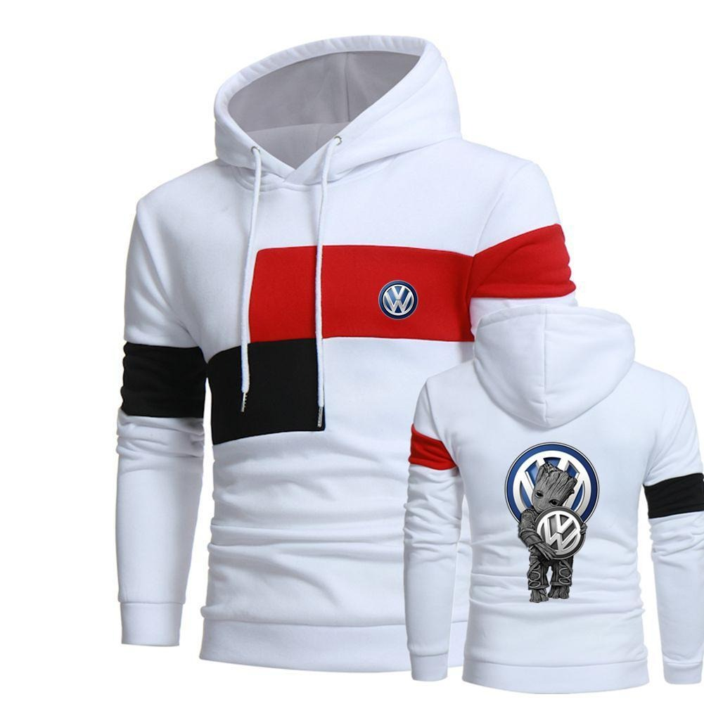 Groot hug Volkswagen full over 3d print white hoodie