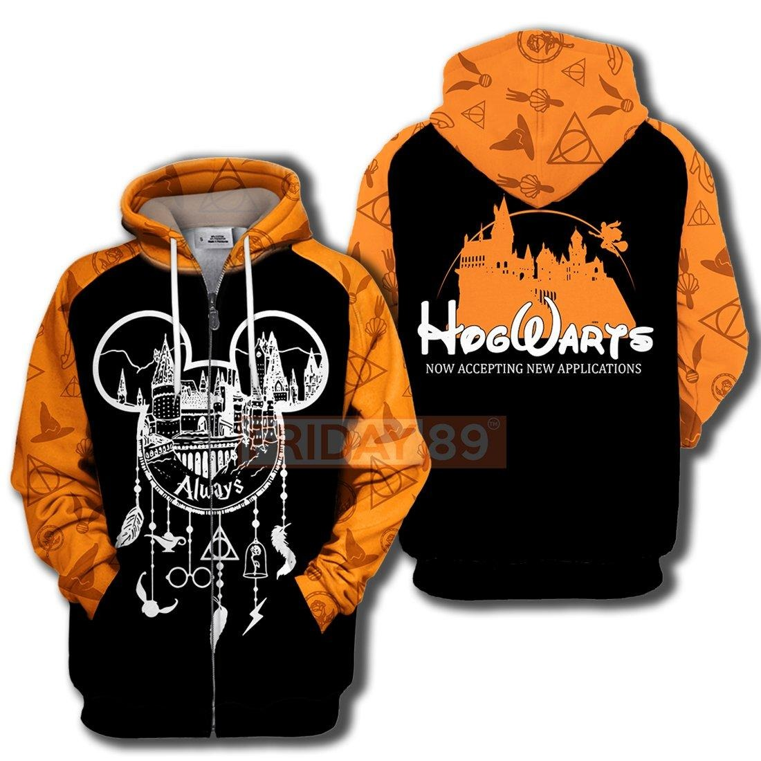 Hogwarts always dreamcatcher now accepting new appilcation 3d hoodie and zip