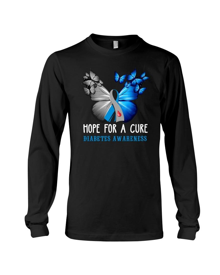 Hope for a cure diabiates awareness long sleeved shirt