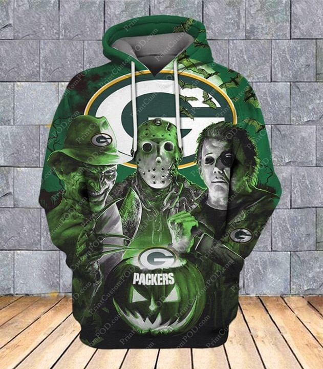 Horror characters Green Bay Packers 3D