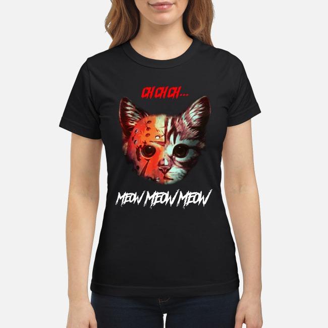 Horror movie Cat meow classic shirt