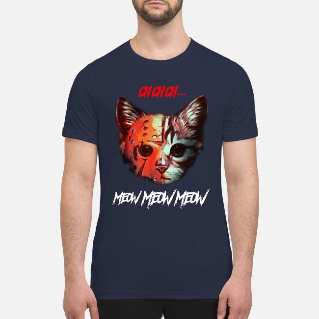 Horror movie Cat meow premium men's shirt