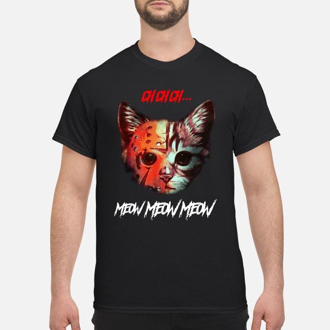 Horror movie Cat meow shirt