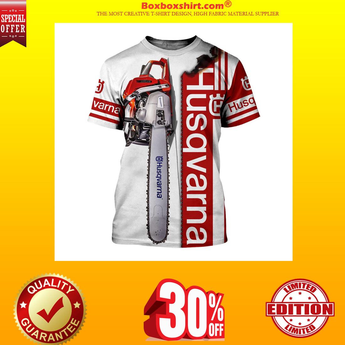 Husqvarna chainsaw 3d classic shirt