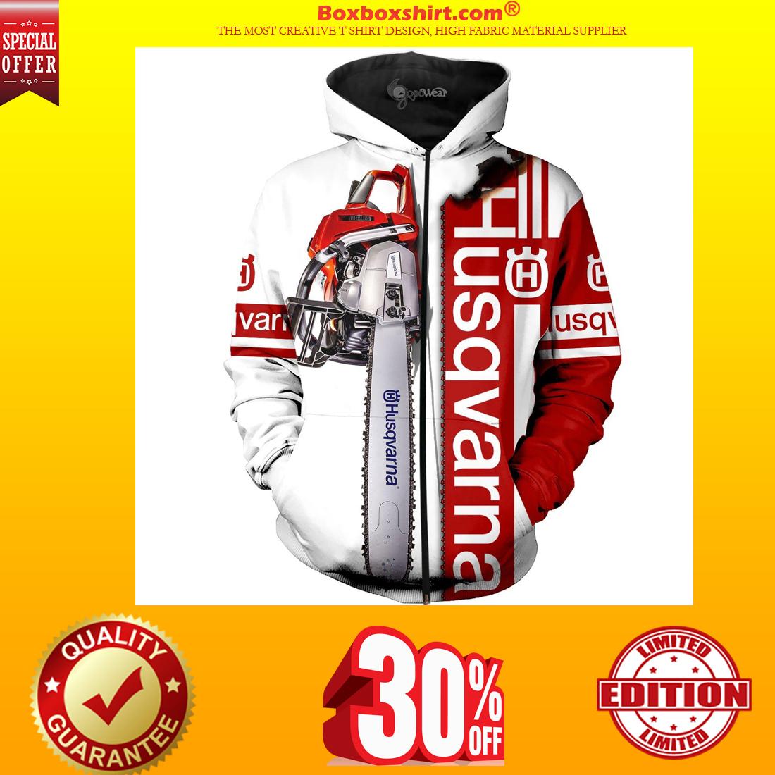 Husqvarna chainsaw 3d shirt and zipped hoodie