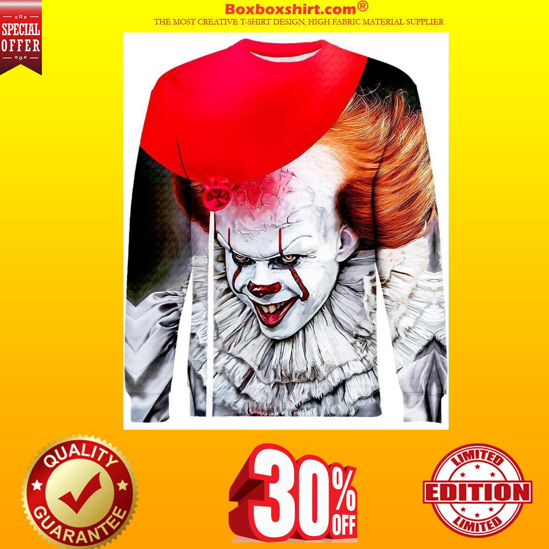 IT Pennywise 3d all over print hoodie and sweatshirt