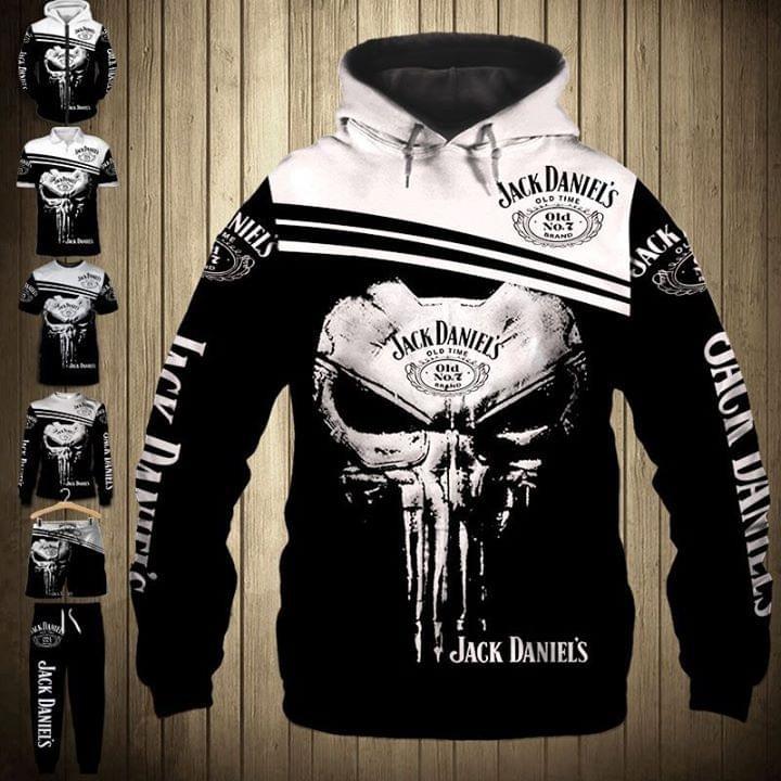 Jack Daniel's skull 3d shirt and hoodie