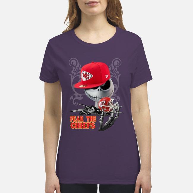 Jack Skellington Fear the Chiefs premium women's shirt