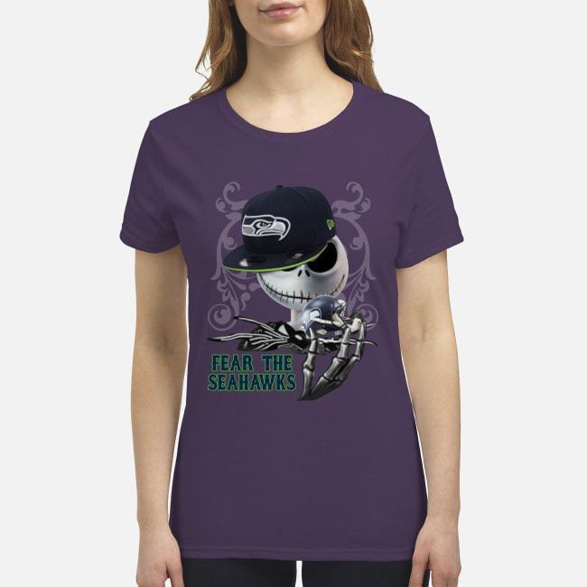 Jack Skellington Fear the Seahawks premium women's shirt