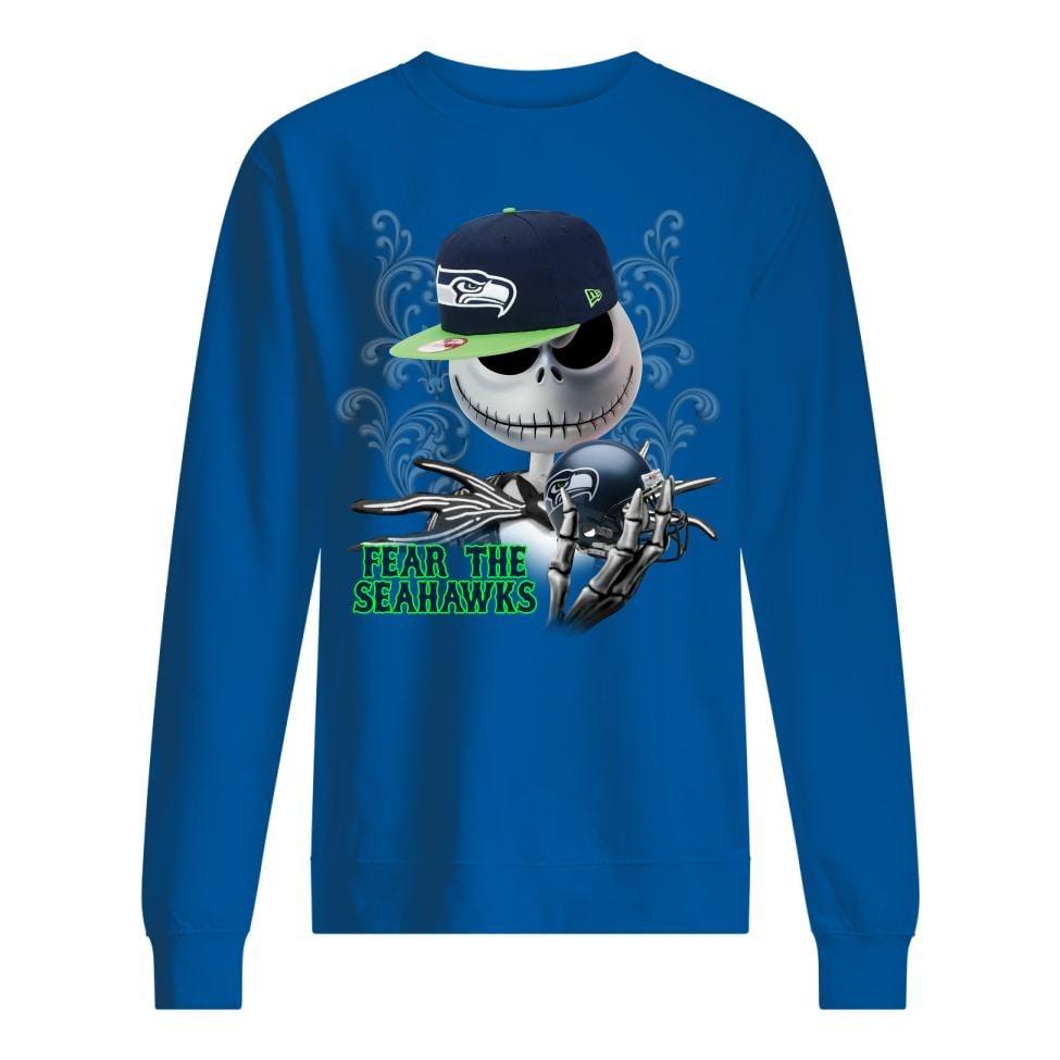 Jack Skellington fear the raiders sweatshirt