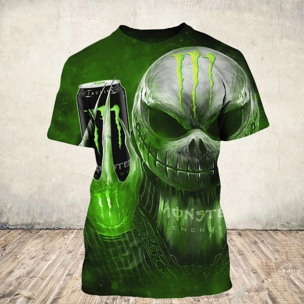 Jack Skellington holding monster energy 3d shirts and hoodie