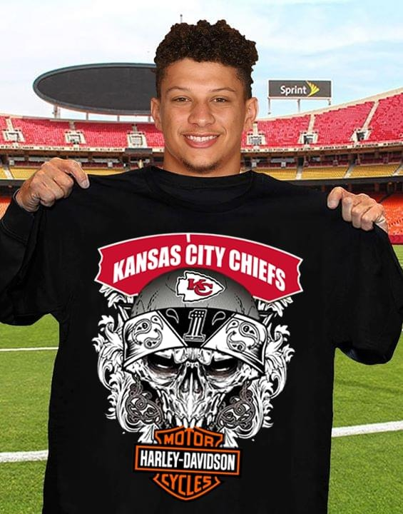 Kansas city chiefs motor Harley davidson shirt