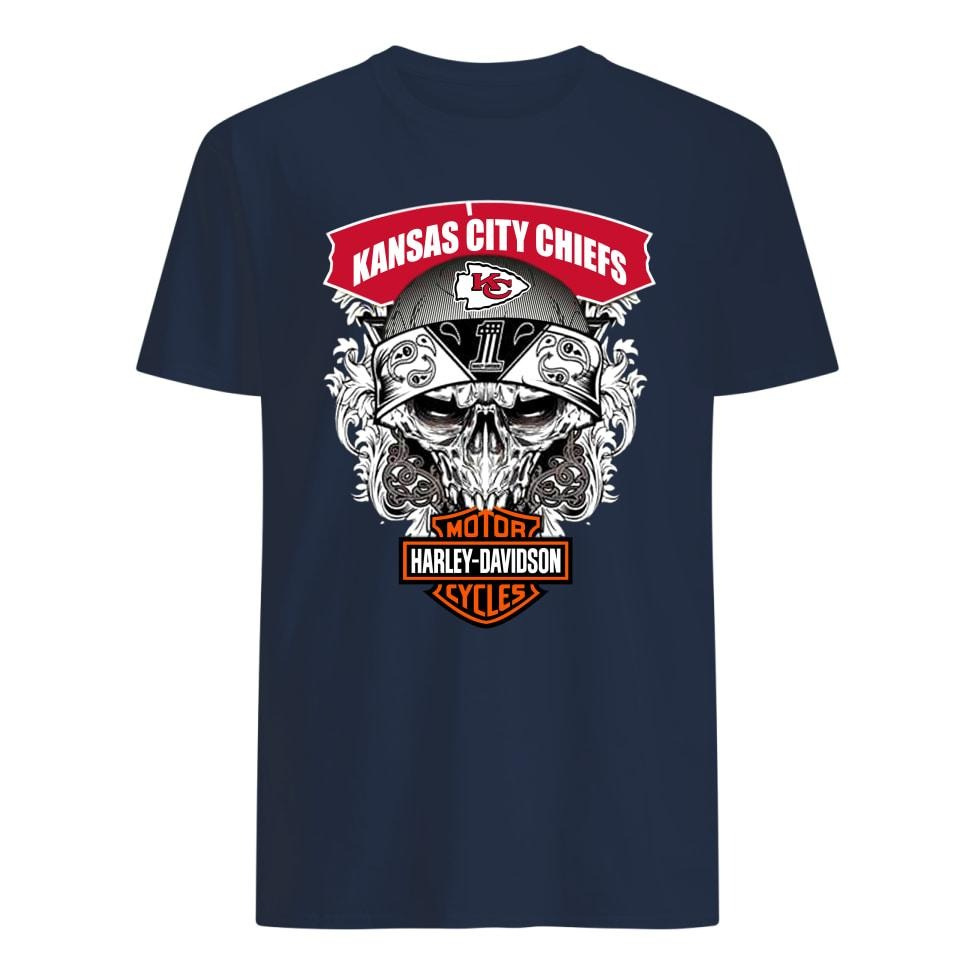 Kansas city chiefs motor Harley davidson shirts