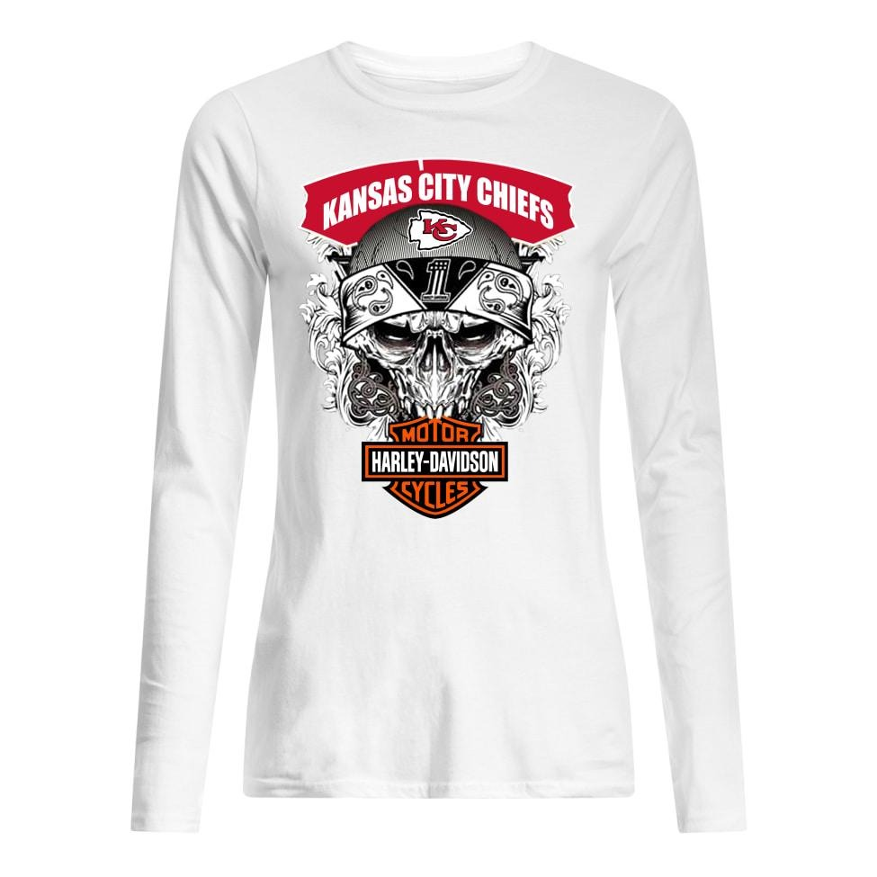 Kansas city chiefs motor Harley davidson women's long sleeved shirt