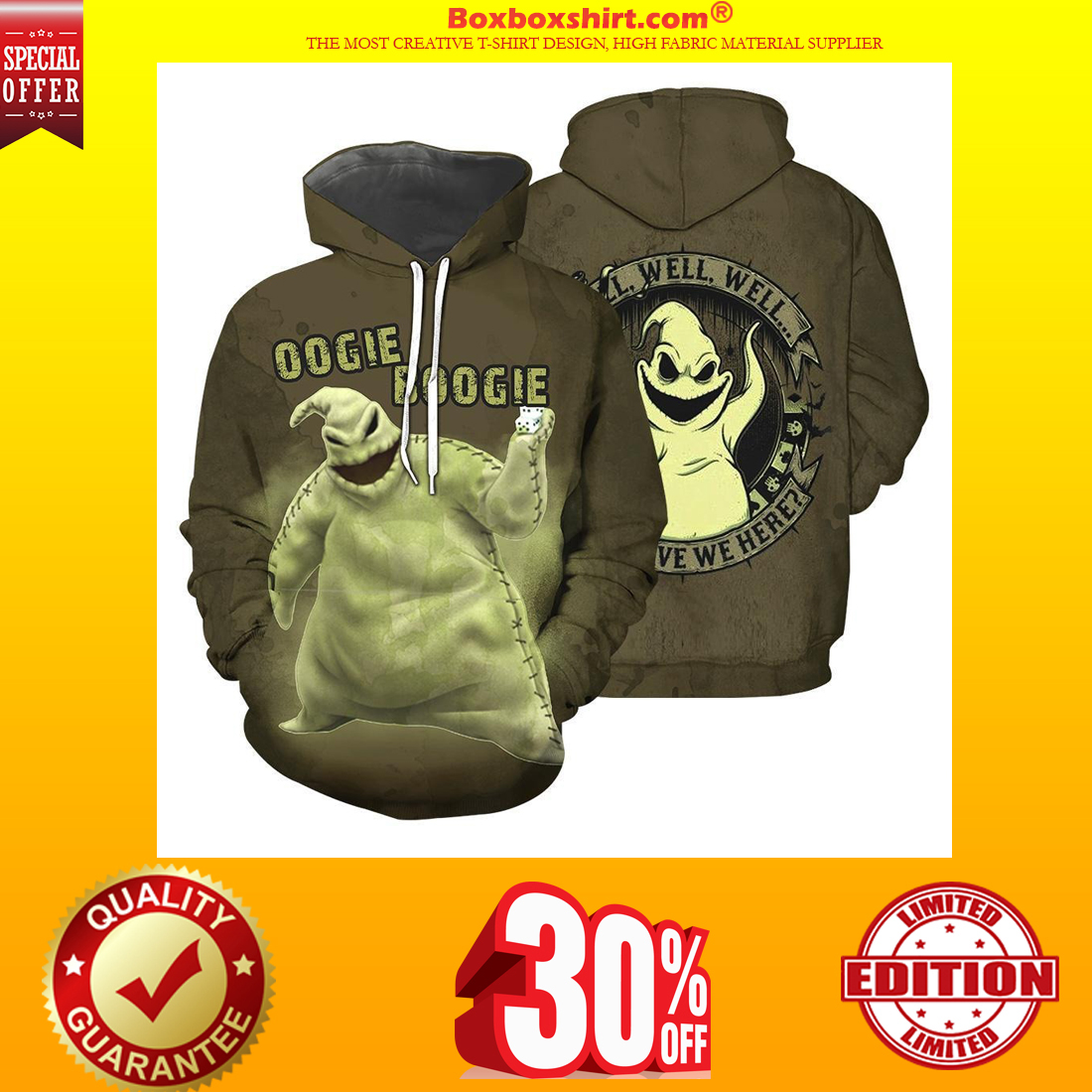 Oogie Boogie 3d shirt and hoodie
