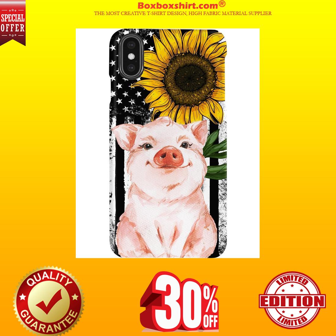 Pig American flag sunflower phone cases