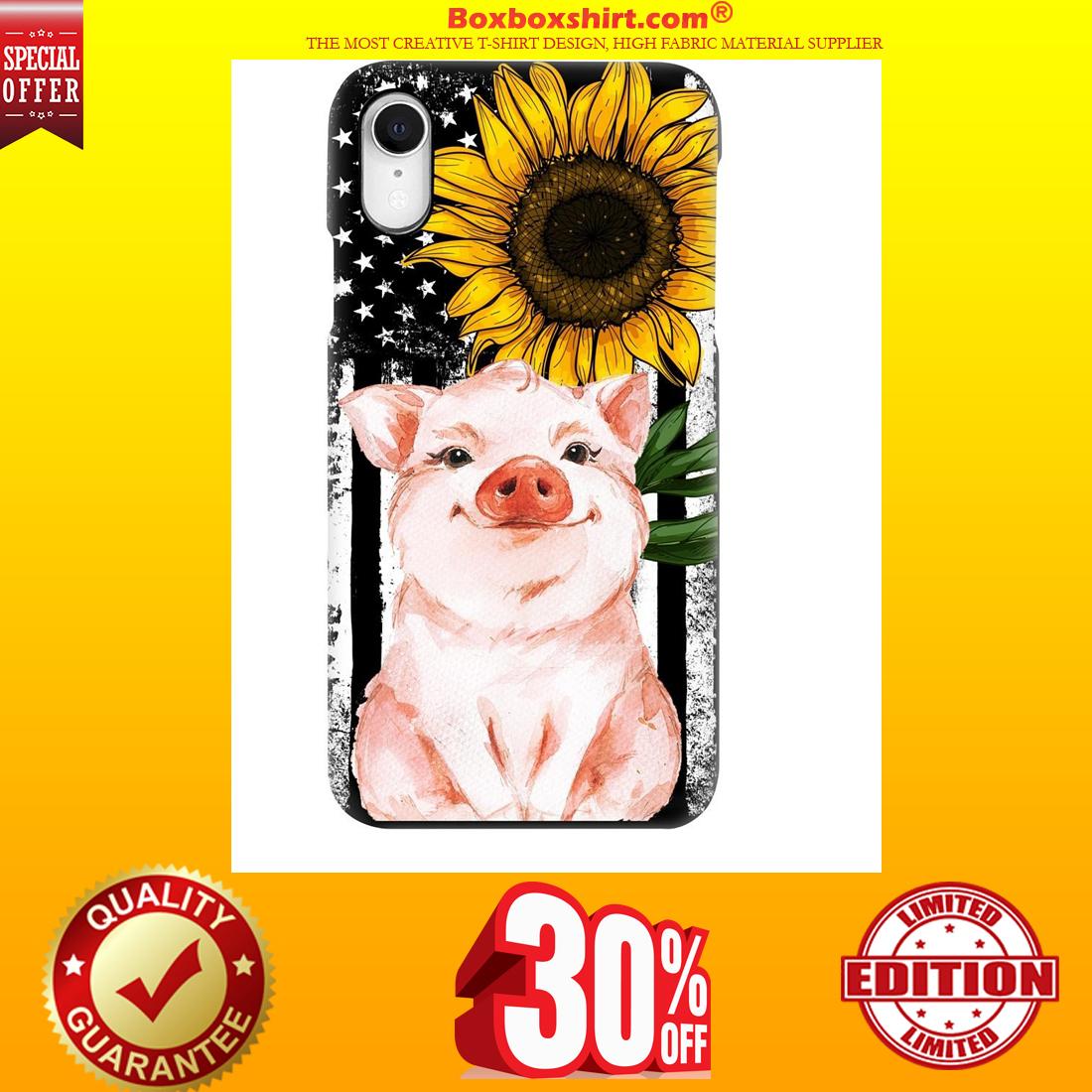 Pig American flag sunflower phone hot case