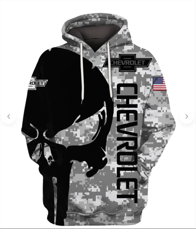 Punisher skull Chevrolet 3d shirts and hoodies
