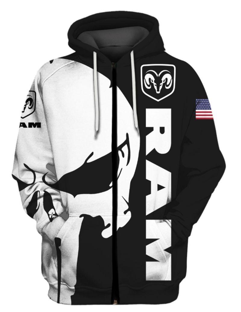Punisher skull Ram 3d hoodie