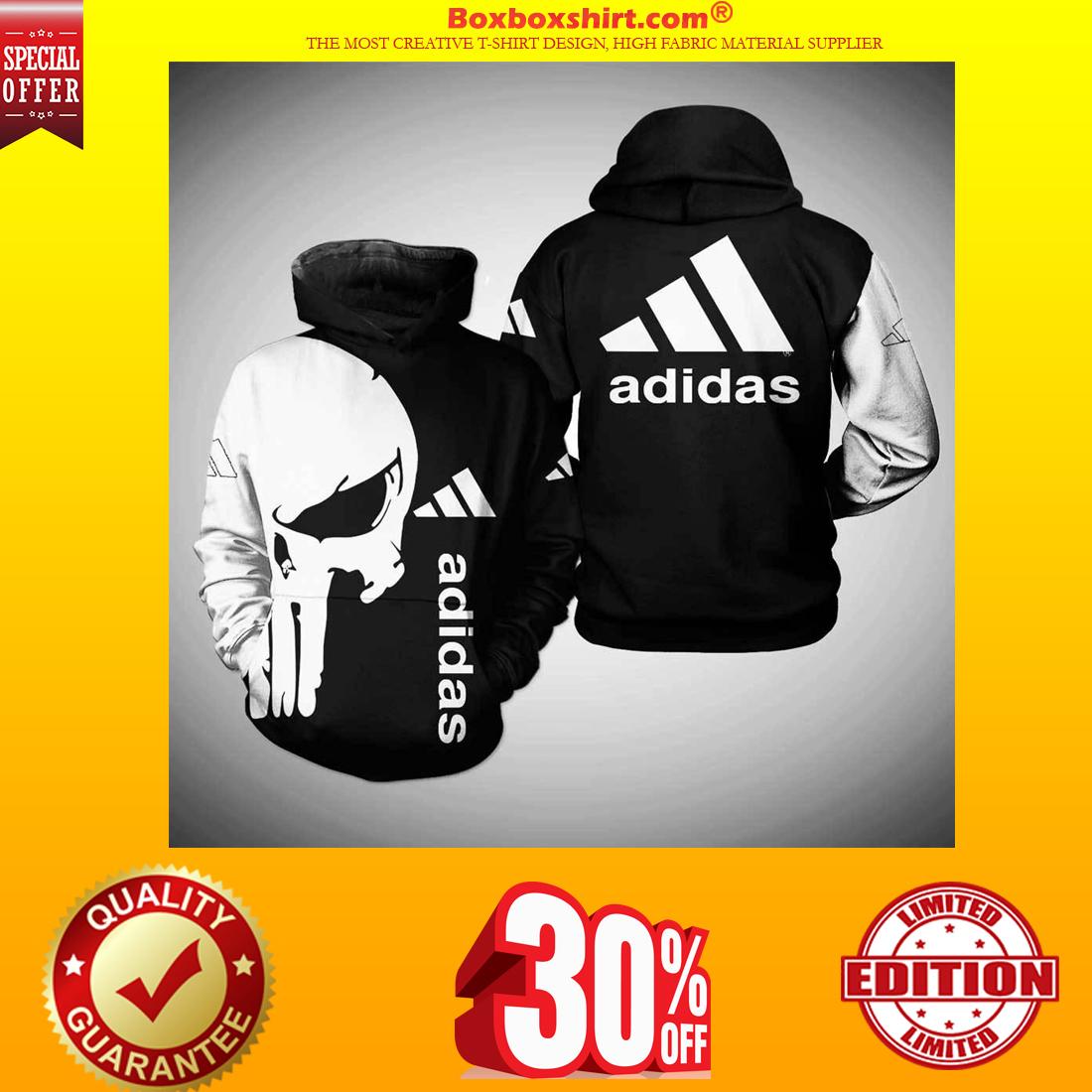 Punisher skull adidas 3d full print shirt and hoodie