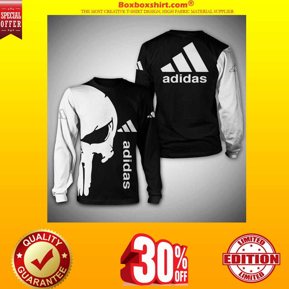 Punisher skull adidas 3d full print sweatshirt