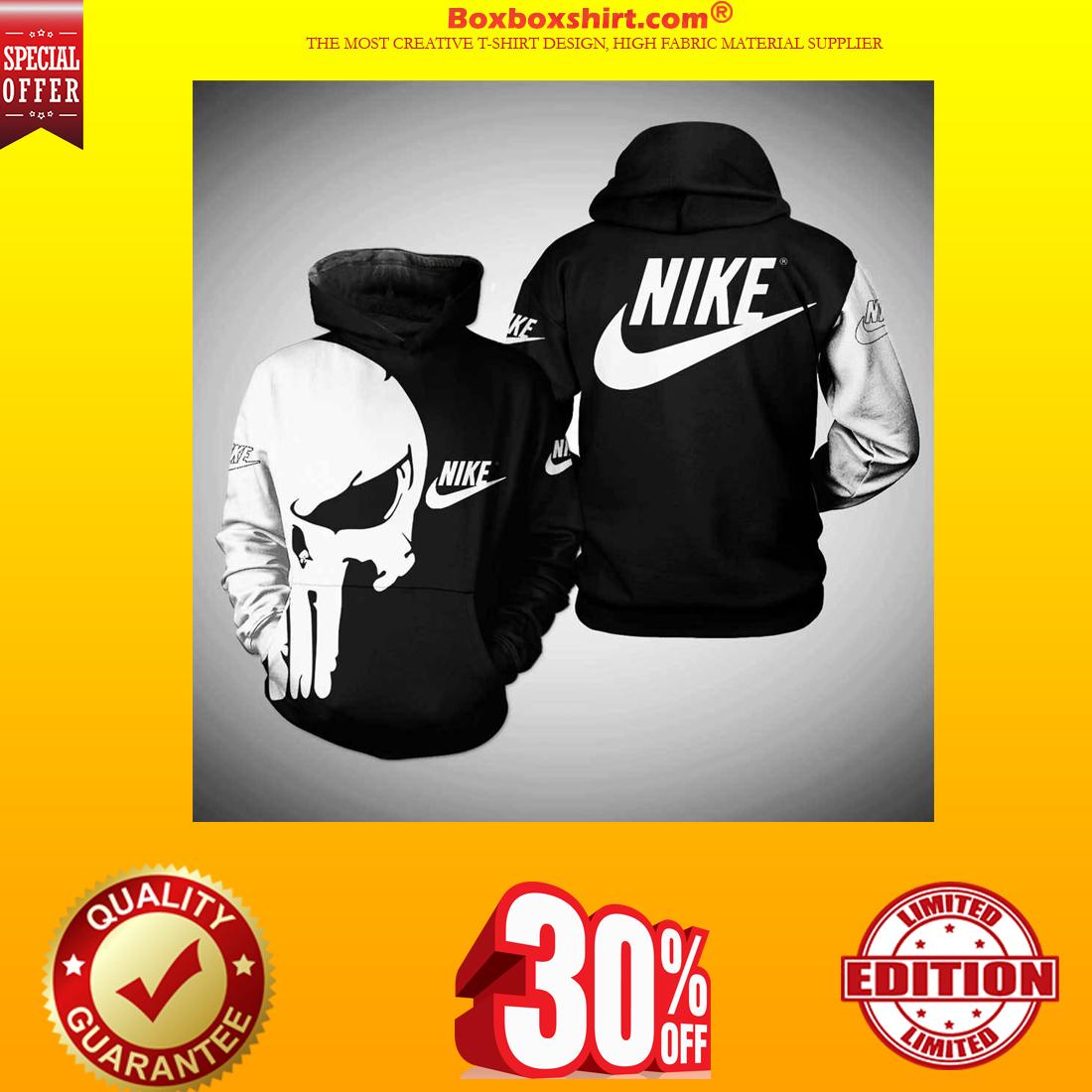 Punisher skull nike 3d full print shirt and hoodie