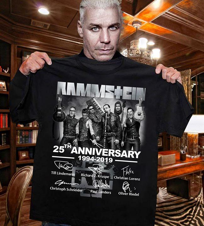 Rammstein 25th anniversary 1994 2019 shirt