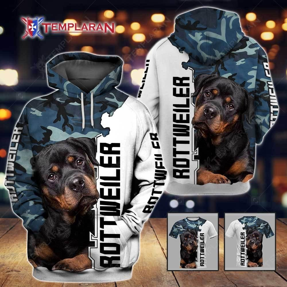 Rottweiler 3d shirt and hoodie and tee