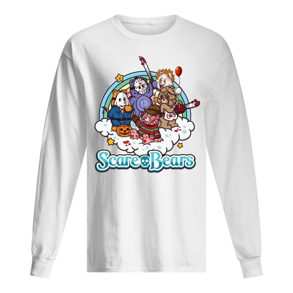 Scare bears horror character long sleeved shirt