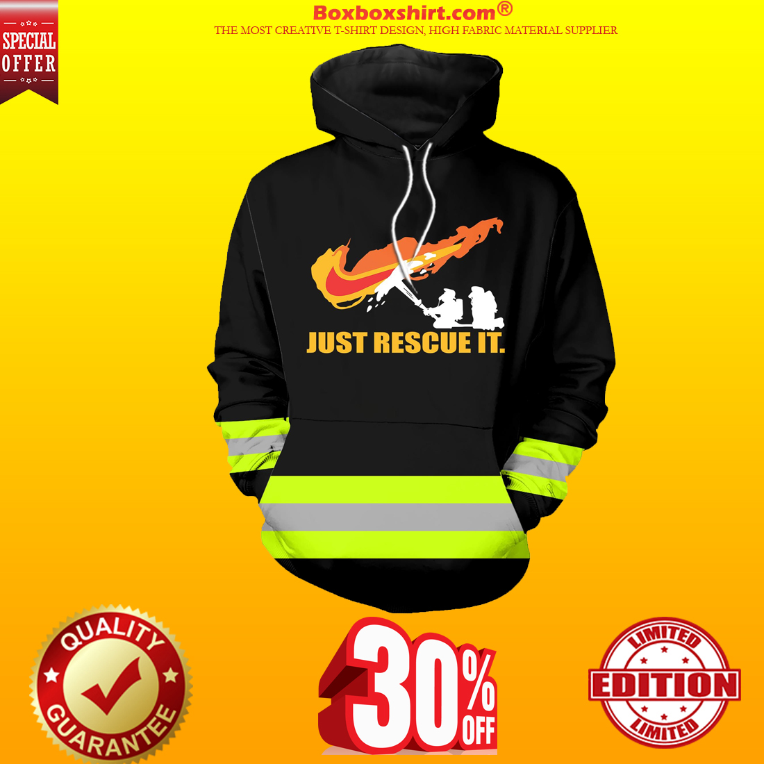 Under Armour firefighter 3d hoodie hot shirt