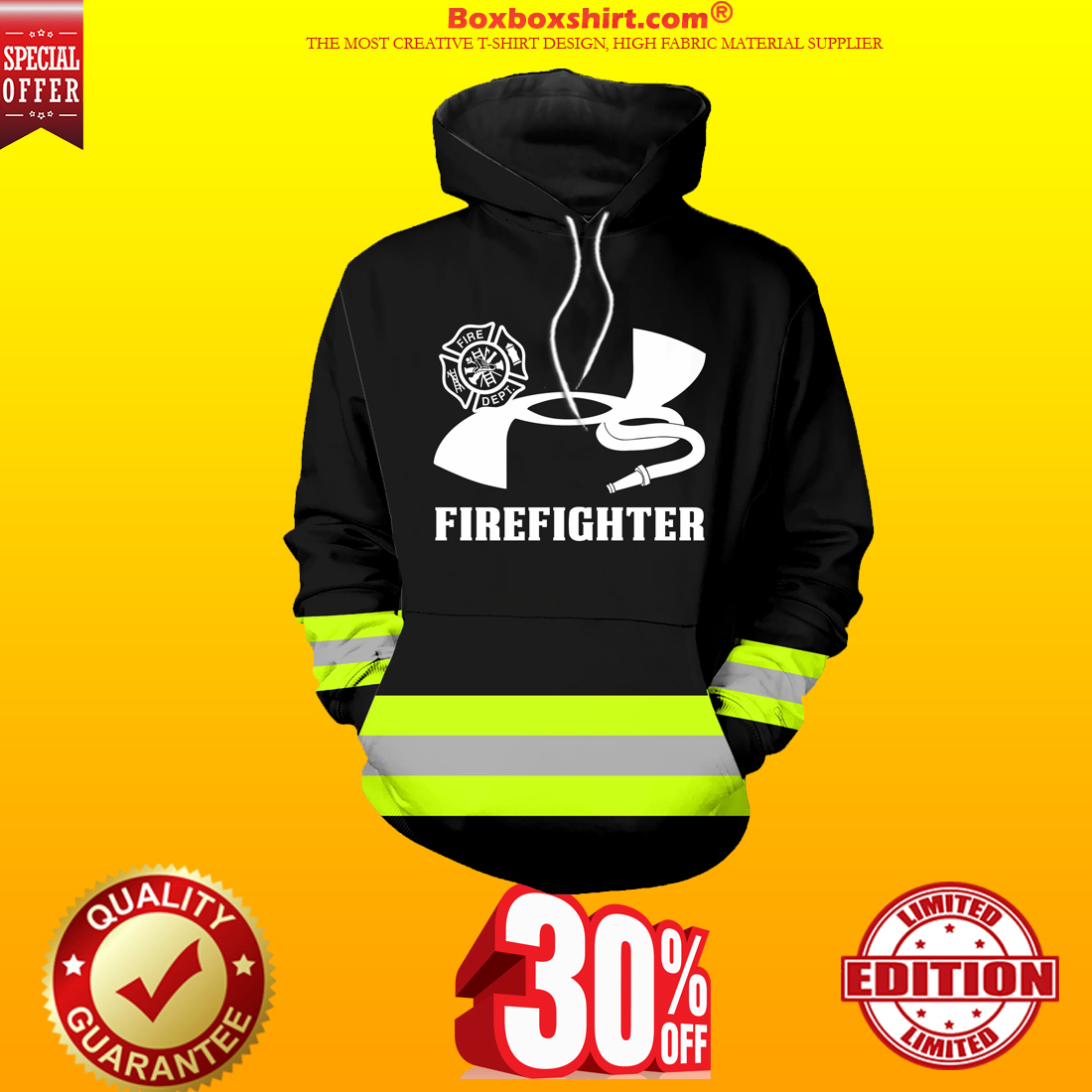 Under Armour firefighter 3d hoodie shirt