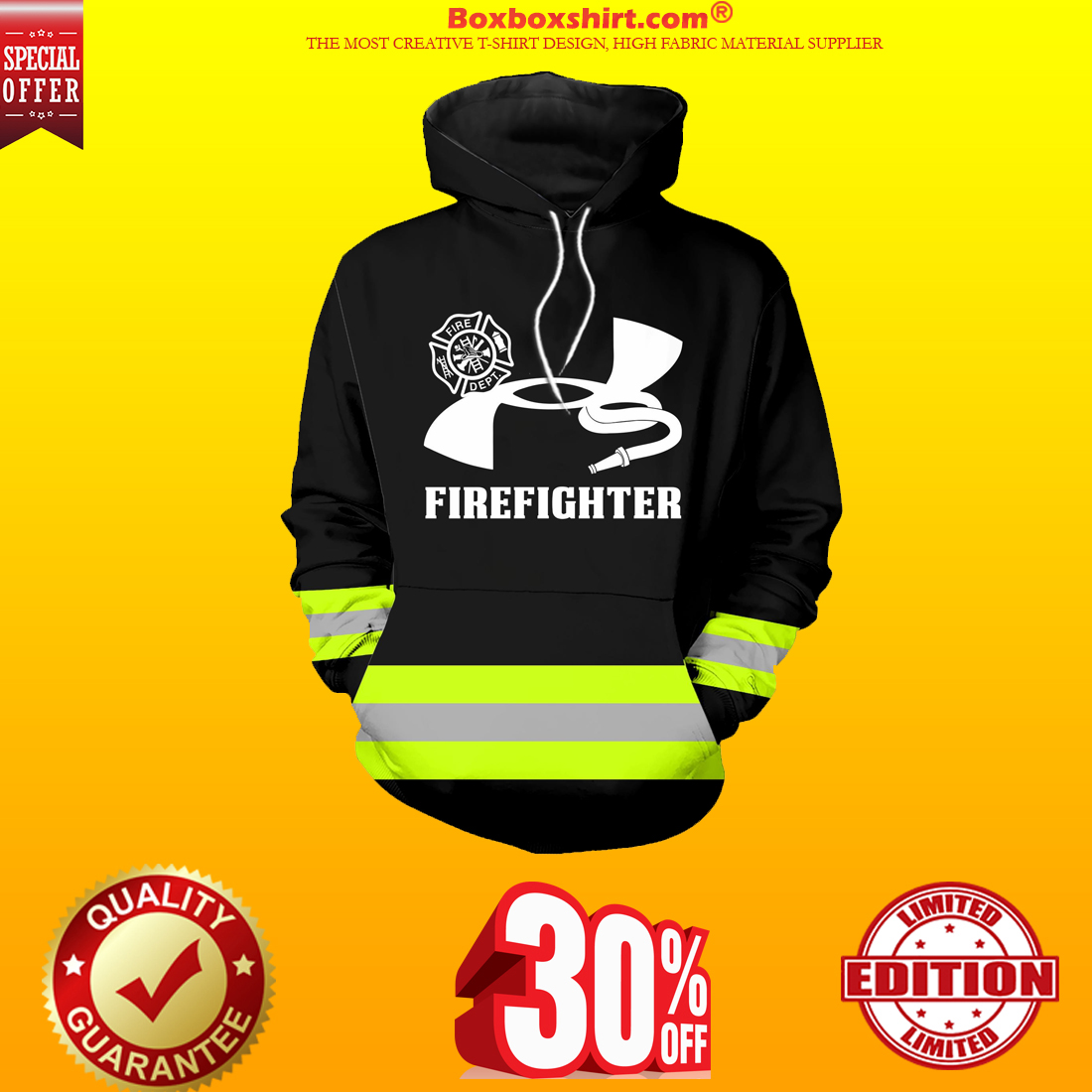 Under Armour firefighter hoodie and shirt 3d