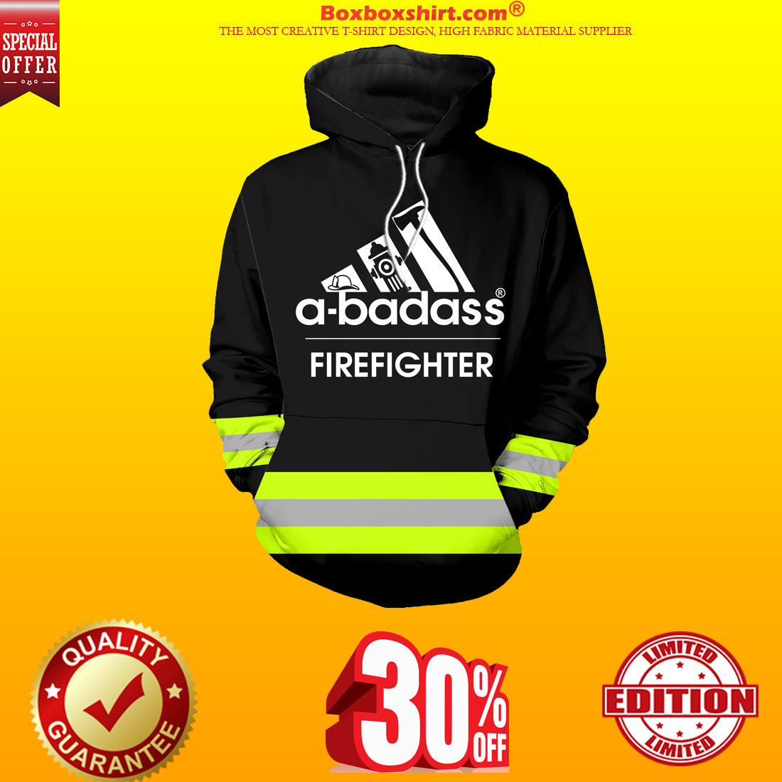 Under Armour firefighter hoodie and shirt green line 3d