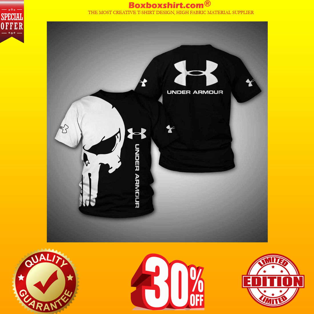 Under Armour skull 3d shirt and hoodie and shirt