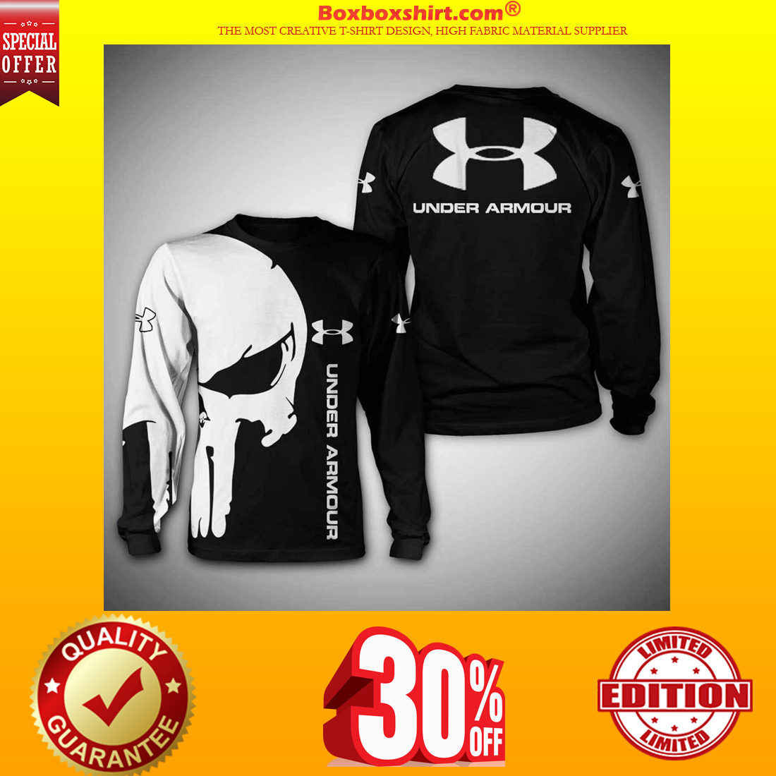 Under Armour skull 3d shirt and hoodie and sweatshirt