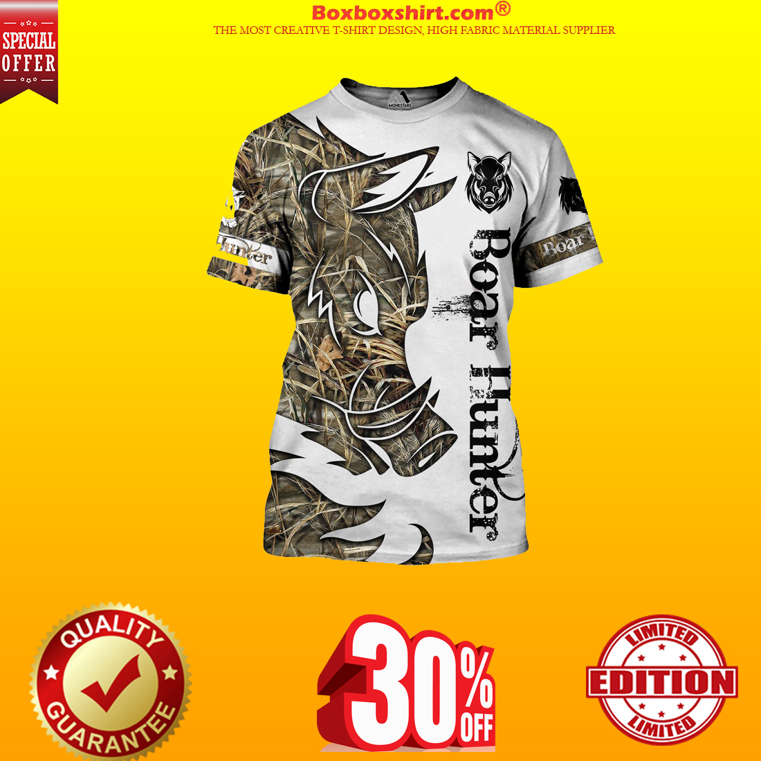 Boar Hunter all over print 3d hoodie and shirt