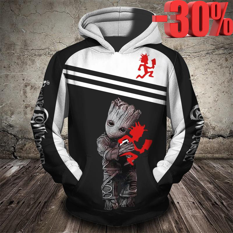 Groot insane clown posse 3d full print cool hoodie