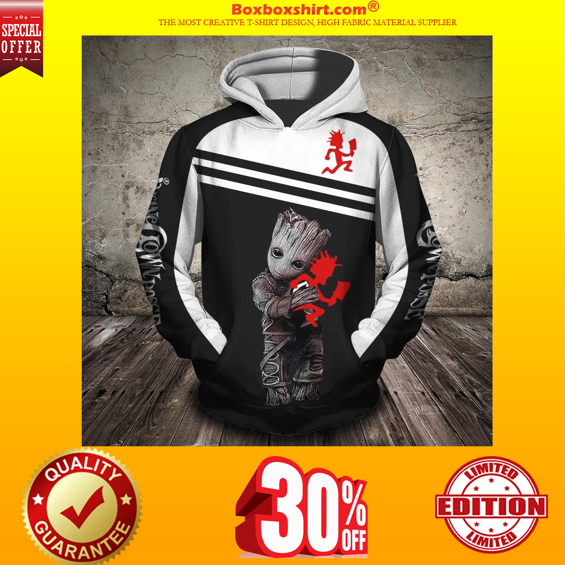 Groot insane clown posse 3d full print hoodie