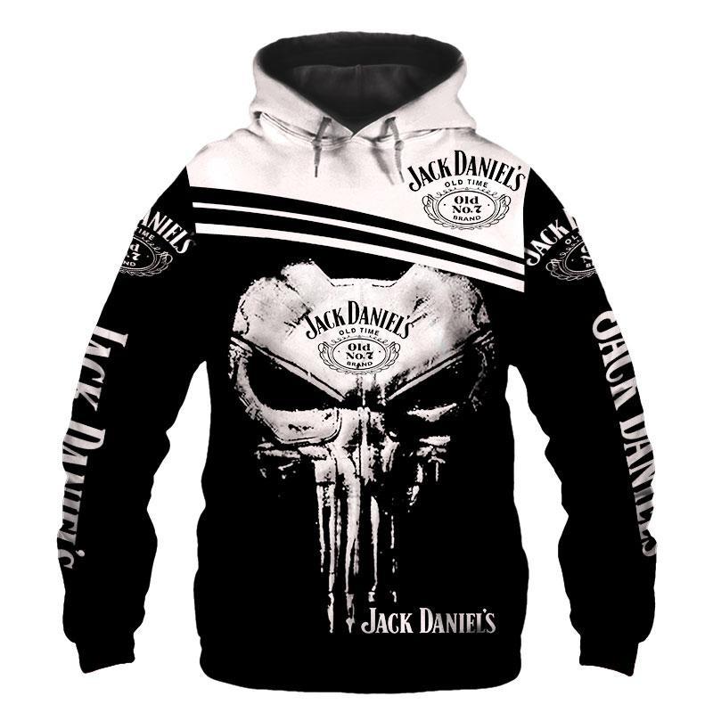 Jack Daniel's skull 3d hoodie