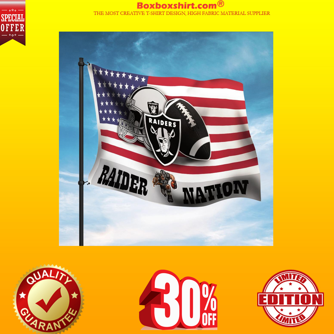Oakland Raider Nation American flag