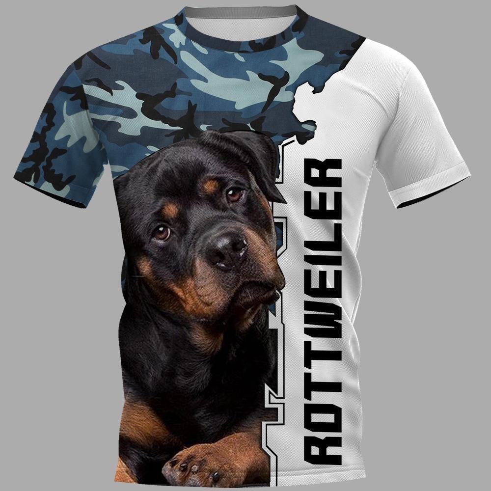 Rottweiler 3d hoodie and unisex tee