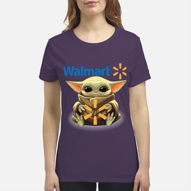 Baby Yoda Walmart premium women's shirt
