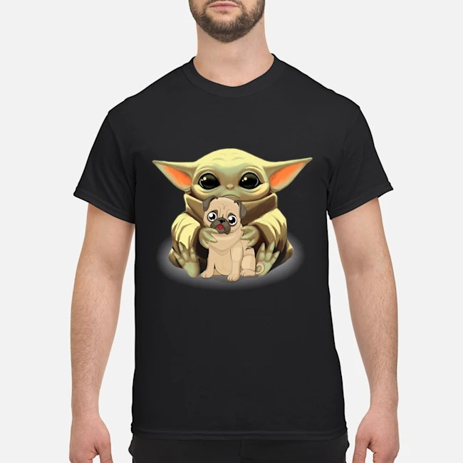 Baby Yoda pug classic shirt