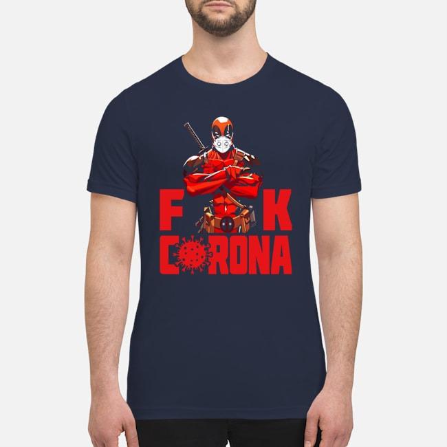 Deadpool mask face fuck corona premium men's shirt
