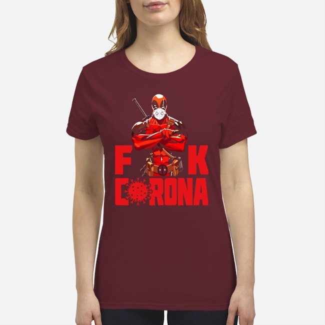 Deadpool mask face fuck corona premium women's shirt