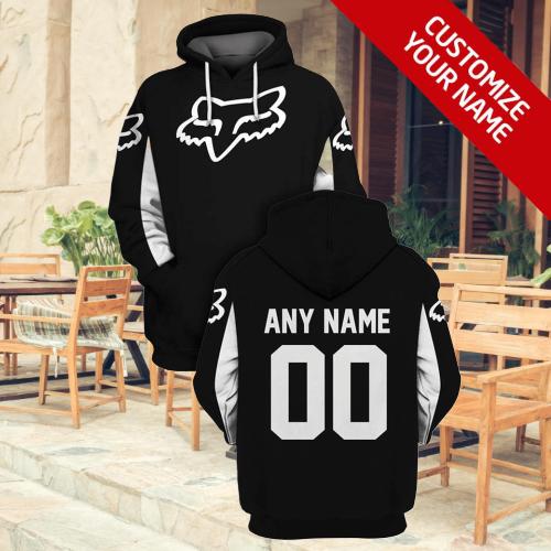 Fox racing custom name 3d hoodie