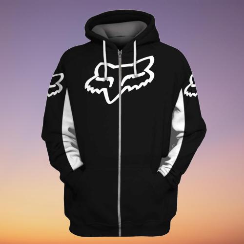 Fox racing custom name 3d zip hoodie